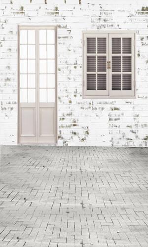 White Cottage Backdrop