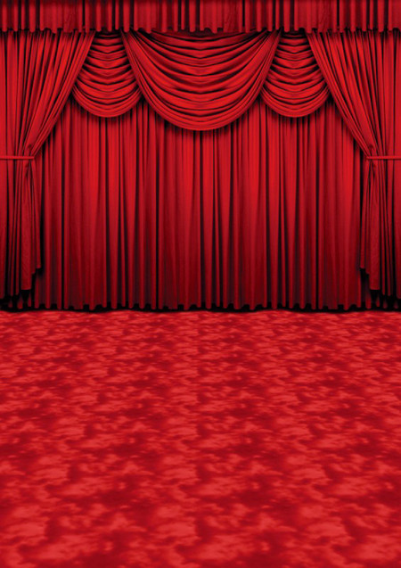 Crimson Curtains Backdrop Photo Pie