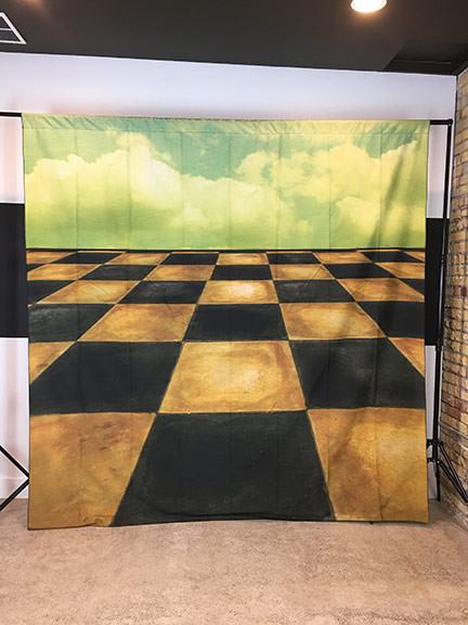 Checkered Sky 8x8 Prismacloth Backdrop Photo Pie Backdrops