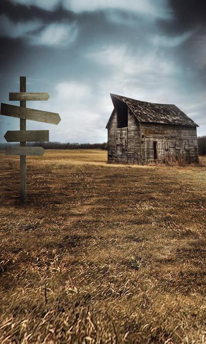 Rustic Barn Backdrop Photo Pie