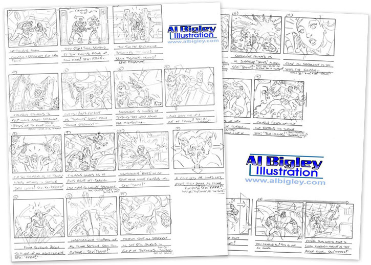 Marvel Animation Art Process - Storyboards