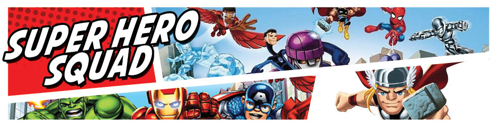 Limited edition Marvel Super Hero Squad art and goodies... take the superhero cute to the  next level.