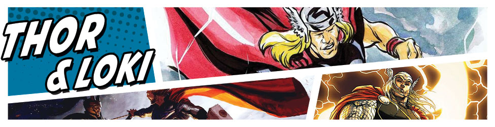 Celebrate the sons of Asgard with great Marvel licensed merchandise and original art.