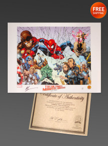 Ultimate Marvel Universe Poster- Art Thibert Art COA