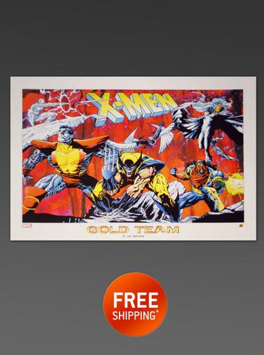 X-MEN GOLD TEAM LITHOGRAPH - Alex Ross