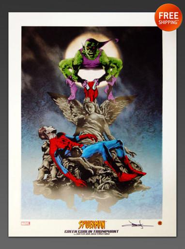 Spider-Man & Green Goblin Art print by Jae Lee