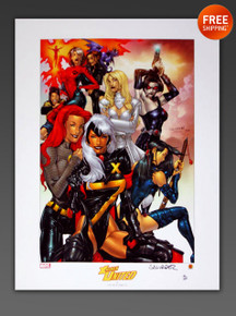 X-Women United Lithograph Signed by SALVADOR LAROCCA from Marvel Comics and Dynamic Forces Limited to 350