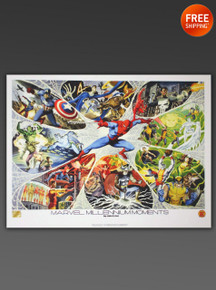 MARVEL Millennium Moments Limited Edition Superheros Lithograph By artist John Estes, Joe Rubenstein, and Tom Smith