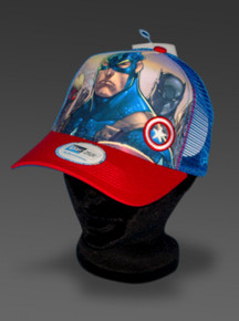 New Era CAPTAIN AMERICA Hat Adjustable Trucker Cap Marvel Avengers Joe Mad