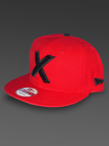 New Era X-MEN 9Fifty Snapback Hat Marvel Comics Adjustable Cap in Red Left