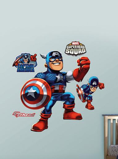 Captain America Super Hero Squad Fathead Wall Art