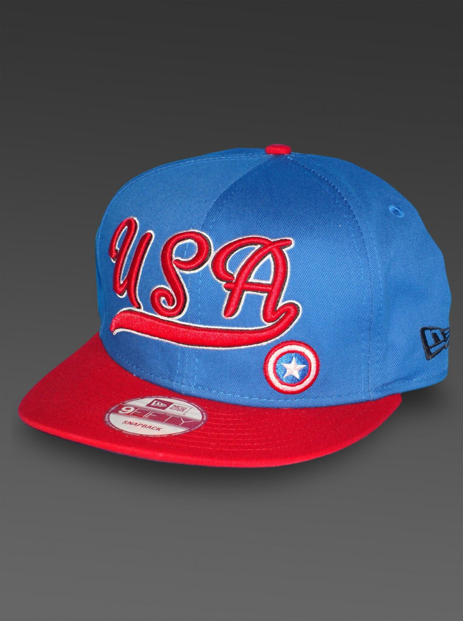 34d8cd8efd890 CAPTAIN AMERICA New Era Marvel Hat USA Patriot 9Fifty Snapback - HeroWiz