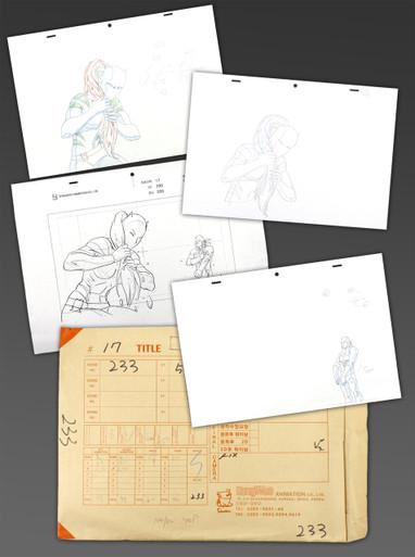Ultimate Spider-Man Season 1, Episode 17, Entire Production Folder for Scene 233 with Nova White Tiger