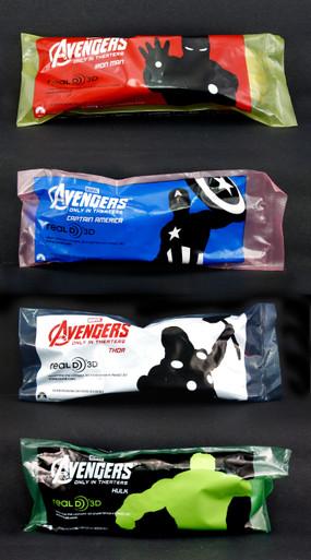 Avengers 3d Glasses set of 4