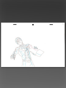 Original Line Artwork from the making of Ultimate Spider-Man from Marvel Animation 2012