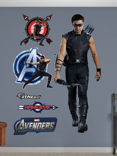Hawkeye Fathead Marvel Live action wall graphic for sale - Jeremy Renner life size