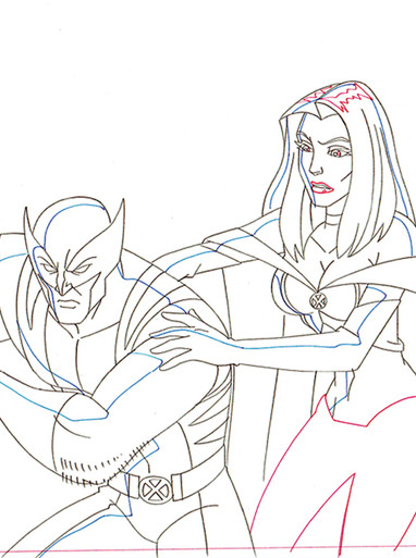 Storm & Wolverine from Wolverine & The X-Men Animated TV Series - For Sale