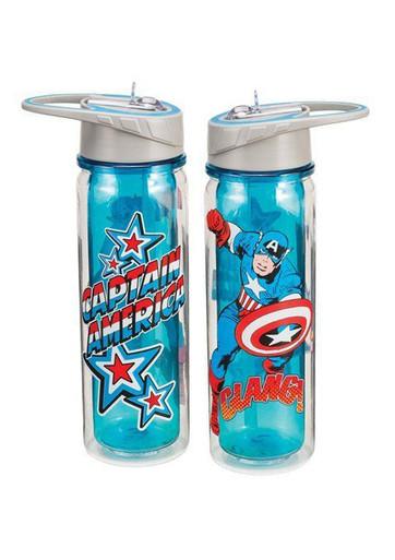 Captain America Comic Style Water Bottle by Vandor