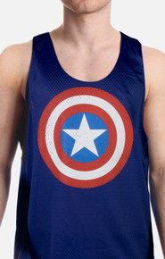 Captain America Basketball Jersey Tank Top