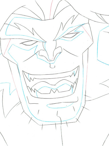 Close up of Screen Used Sabertooth animation production art for the animated series Ultimate Spider-Man S01E09