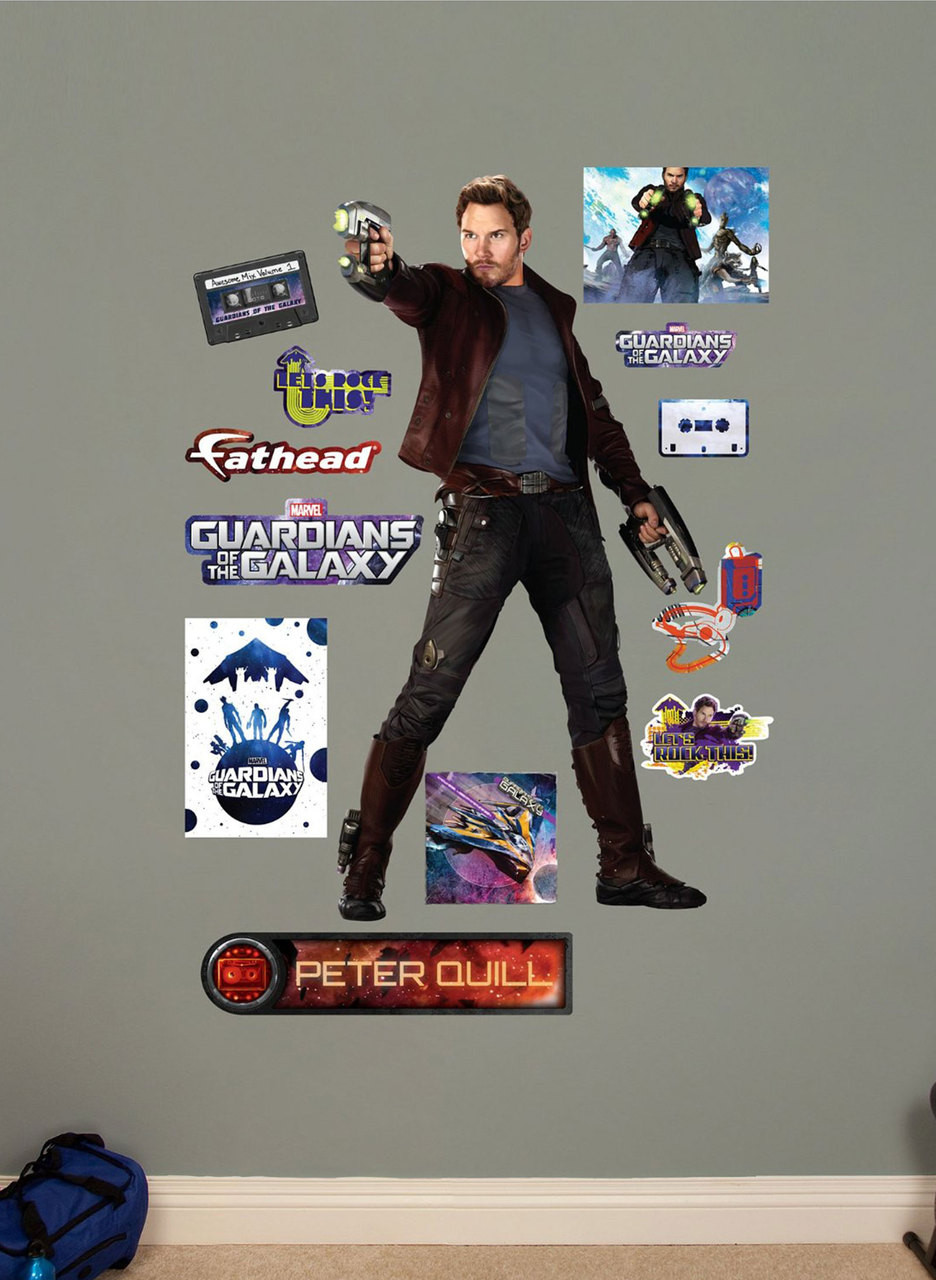 Fathead Peter Quill Marvel Guardians Of The Galaxy Real Big Wall
