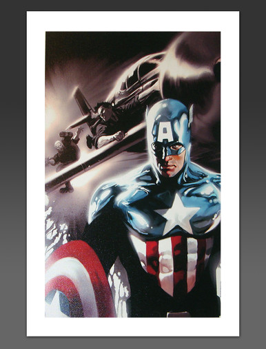 Captain America #609 Canvas Giclee Marko Djurdjevic Marvel Artworks Cover Art
