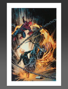 Amazing Spider-Man & Ghost Rider Canvas Giclee Marvel Artworks