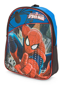 Spidey guards your books and your lunch in this adorable mini blue backpack