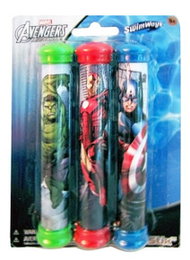 Avengers Assemble... at the bottom of the pool with cool dive sticks featuring Captain America, Hulk and Spidey!