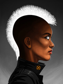 Mondo Mike Mitchell Storm portrait Giclee print front.