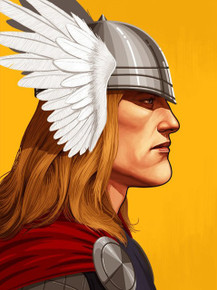 Mondo Mike Mitchell Thor Giclee Proof Portrait print Front