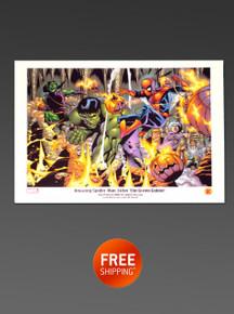 Green Goblin Spider-Man Litho - Rare Marvel Art