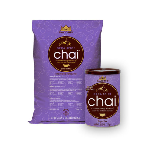 We started with our best selling Tiger Spice Chai and eliminated the sugar  Mix with hot water or milk