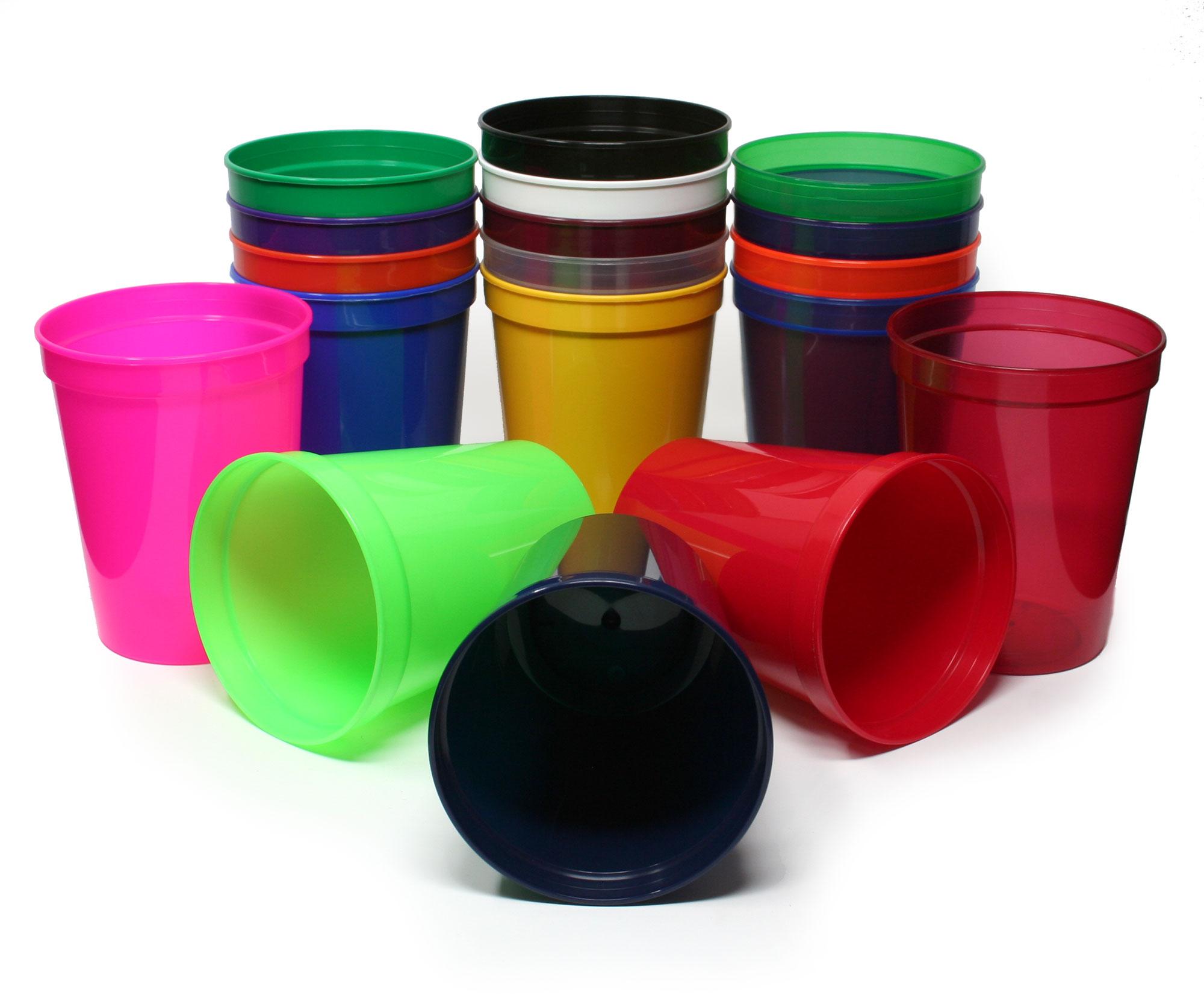 Stadium Cups in Eighteen Colors