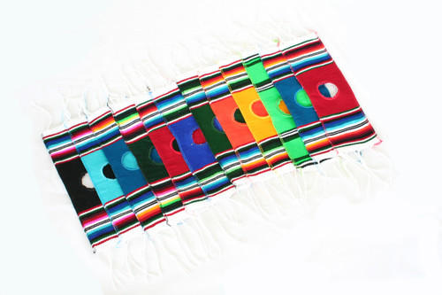 Mexican Serape Bottle Ponchos