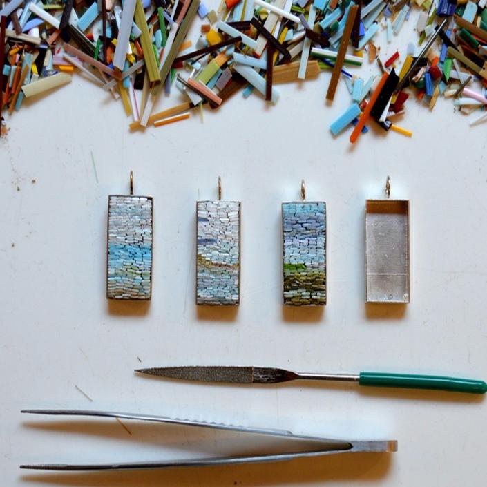 Micromosaic Pendants