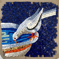 Mosaic Reproduction Kit by Michael Kruzich - Doves Drinking - Right