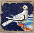 Mosaic Reproduction Kit by Michael Kruzich - Doves Drinking Left