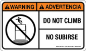 "3 x 5"" Warning Do Not Climb, Bilingual Decal"