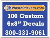 100 Custom Vinyl Decals 6 x 8 Inches