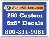 250 Custom Vinyl Decals 6 x 8 Inches