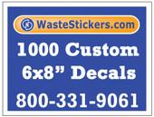 1000 Custom Vinyl Decals 6 x 8 Inches