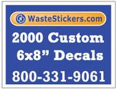 2000 Custom Vinyl Decals 6 x 8 Inches