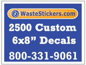 2500 Custom Vinyl Decals 6 x 8 Inches