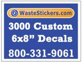 3000 Custom Vinyl Decals 6 x 8 Inches