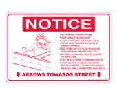 """6 x 9"""" Notice Cart Instructions Decal, At Curb By 5:00 AM"""
