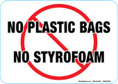 "5 x 7"" No Plastic Bags, No Styrofoam Decal"