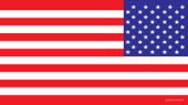 USA Flag Decal United States Flag Decal (Mirror Image)