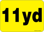 """5 x 7"""" 11 Yard Roll-Off Container Decal"""