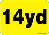 """5 x 7"""" 14 Yard Roll-Off Container Decal"""